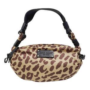 Kate Spade Animal Print Hobo Satchel Handbag Purse